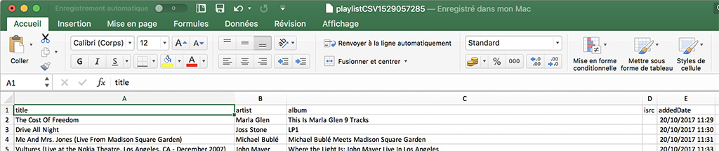 soundiiz export playlist en fichier csv