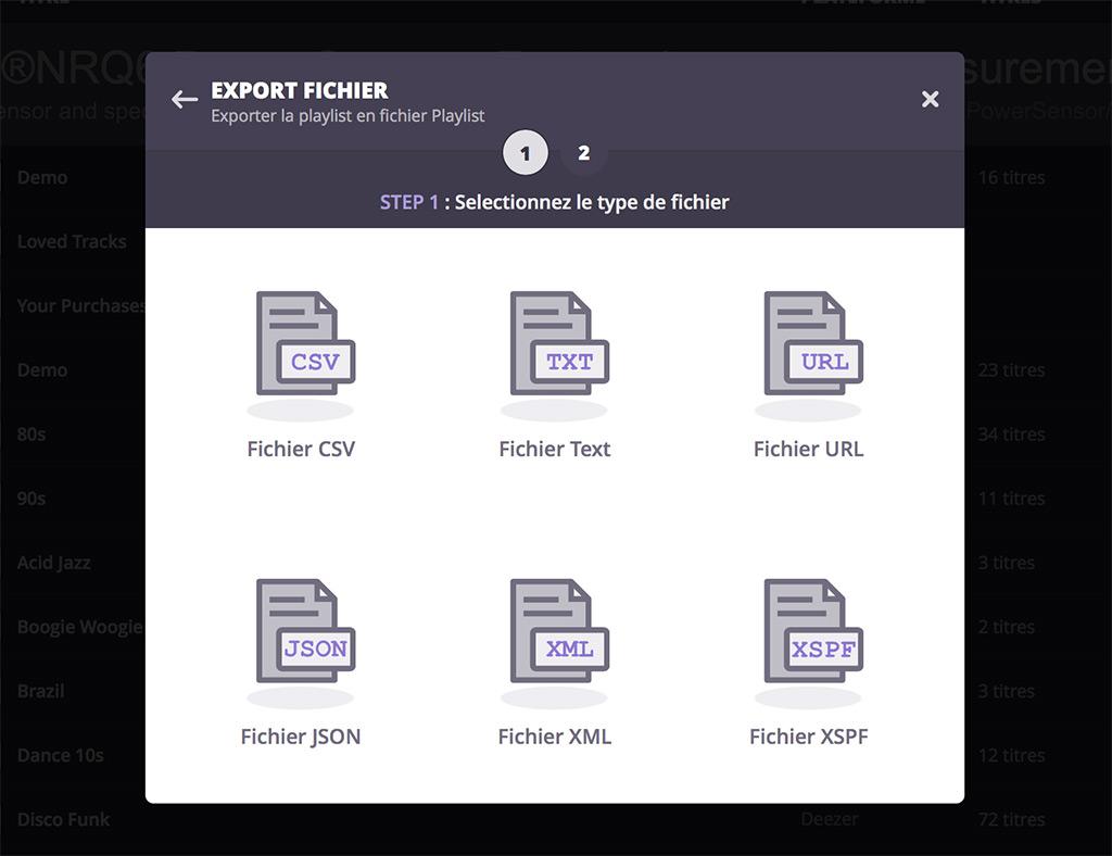 Soundiiz : exporter ses playlists en fichiers textes