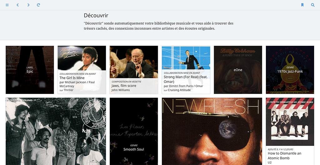 """Roon et la fonction de recommandation musicale """"découverte"""""""
