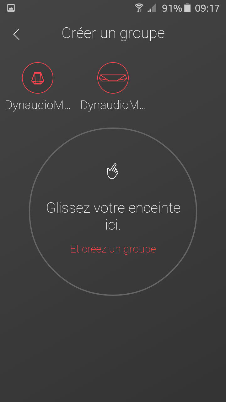 Application Dynaudio : création d'un groupe musical