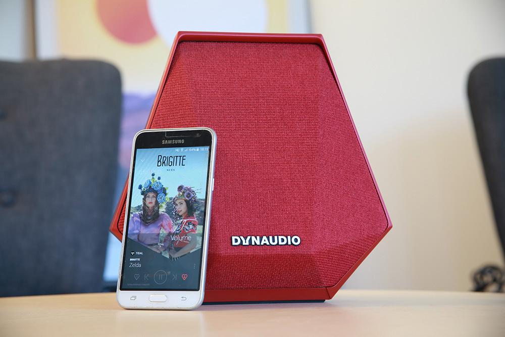 Grâce à sa batterie intégrée, l'enceinte Dynaudio MUSIC 1 peut jouer sans aucun fil de liaison ou d'alimentation pendant près de huit heures.