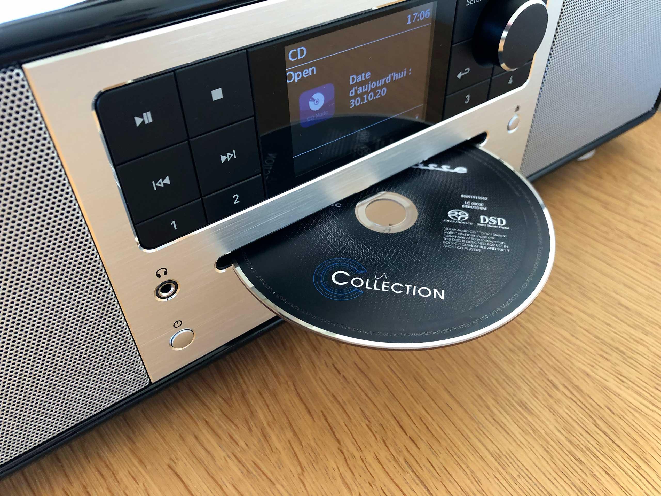 Lecture des CD sur la mini-chaine HiFi, en Bluetooth et WiFi multiroom audio