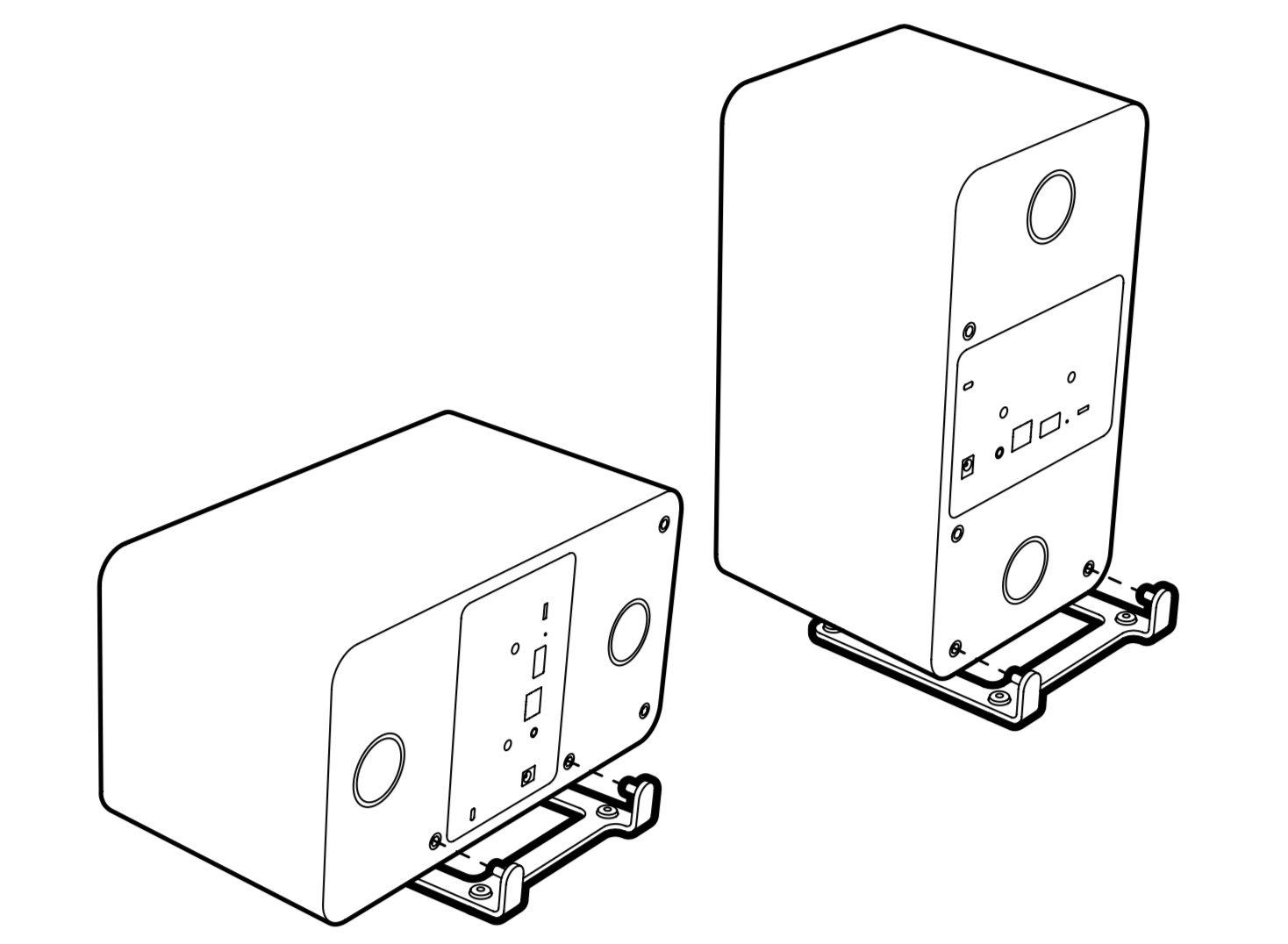 La Ruark MRx peut être installée à l'horizontale comme à la verticale avec le même support.