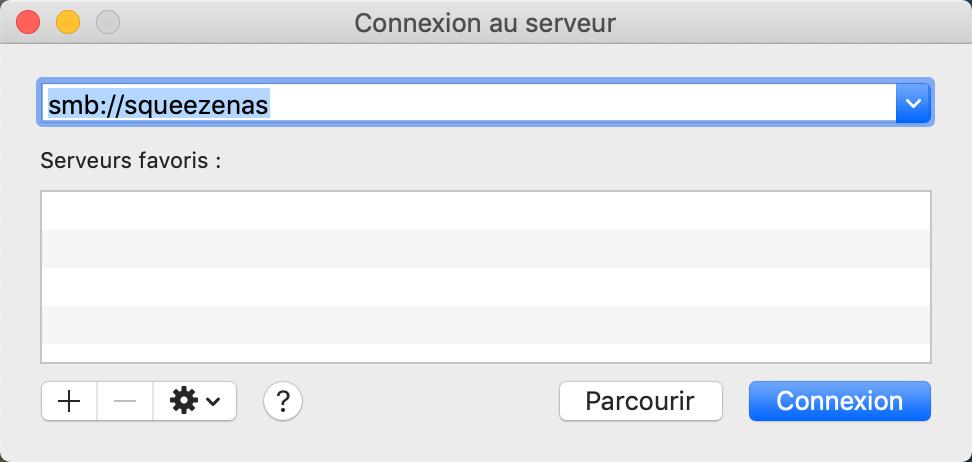 Se connecter à un NAS Synology depuis un ordinateur MacOS