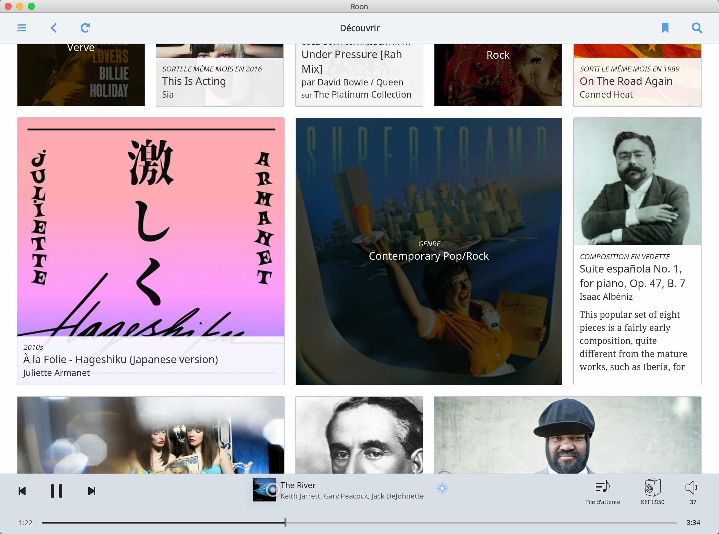 Application Roon sous MacOS pour la lecture de Qobuz sur une enceinte connectée