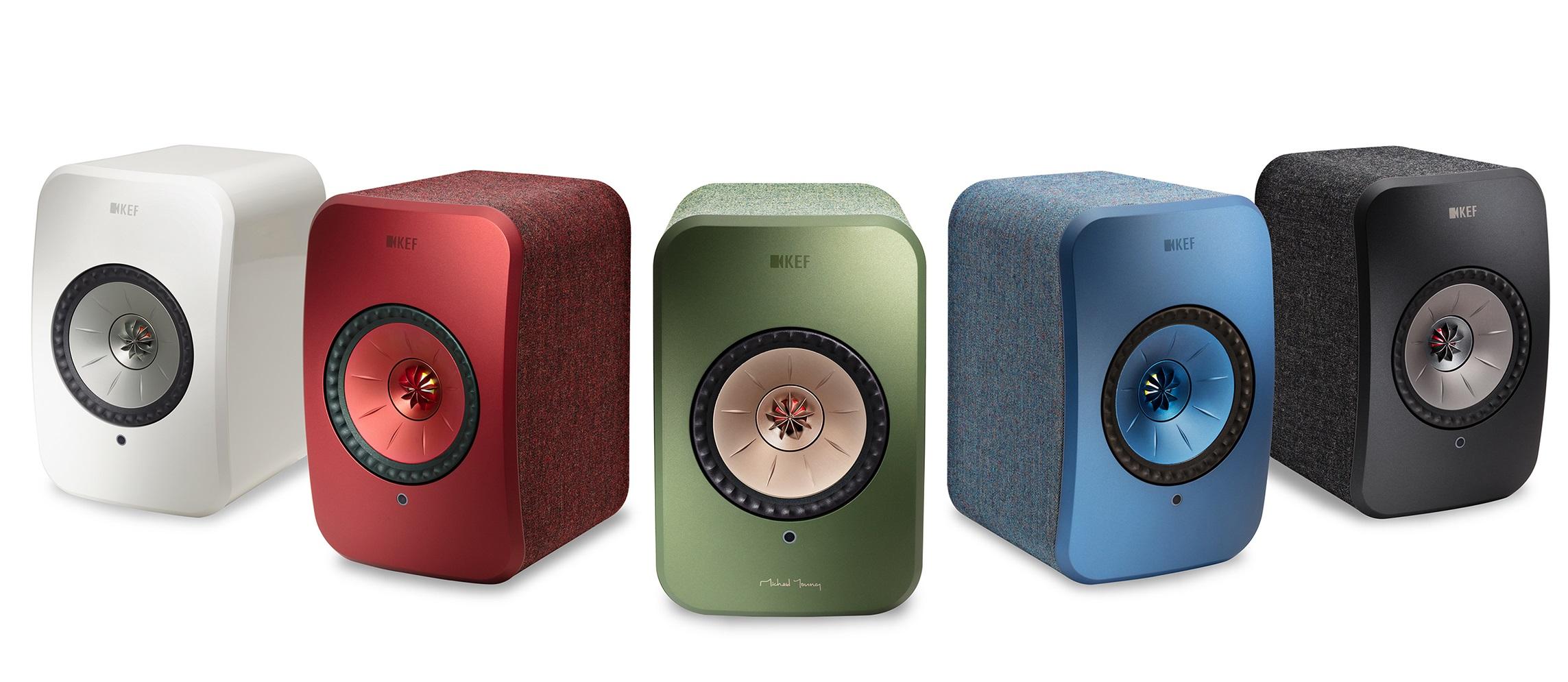 Les cinq teintes disponibles pour les Kef LSX Wirelessafin de trouver celle correspondante à vos goûts et à votre déco.