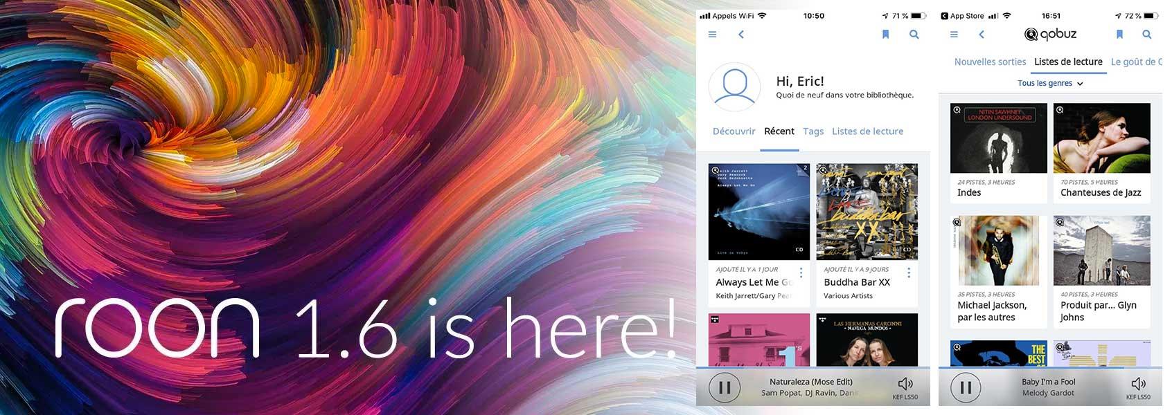 Qobuz disponible sur Roon avec la mise à jour de l'application serveur et télécomamnde. Streaming en qualité HD et navigation musicale intuitive