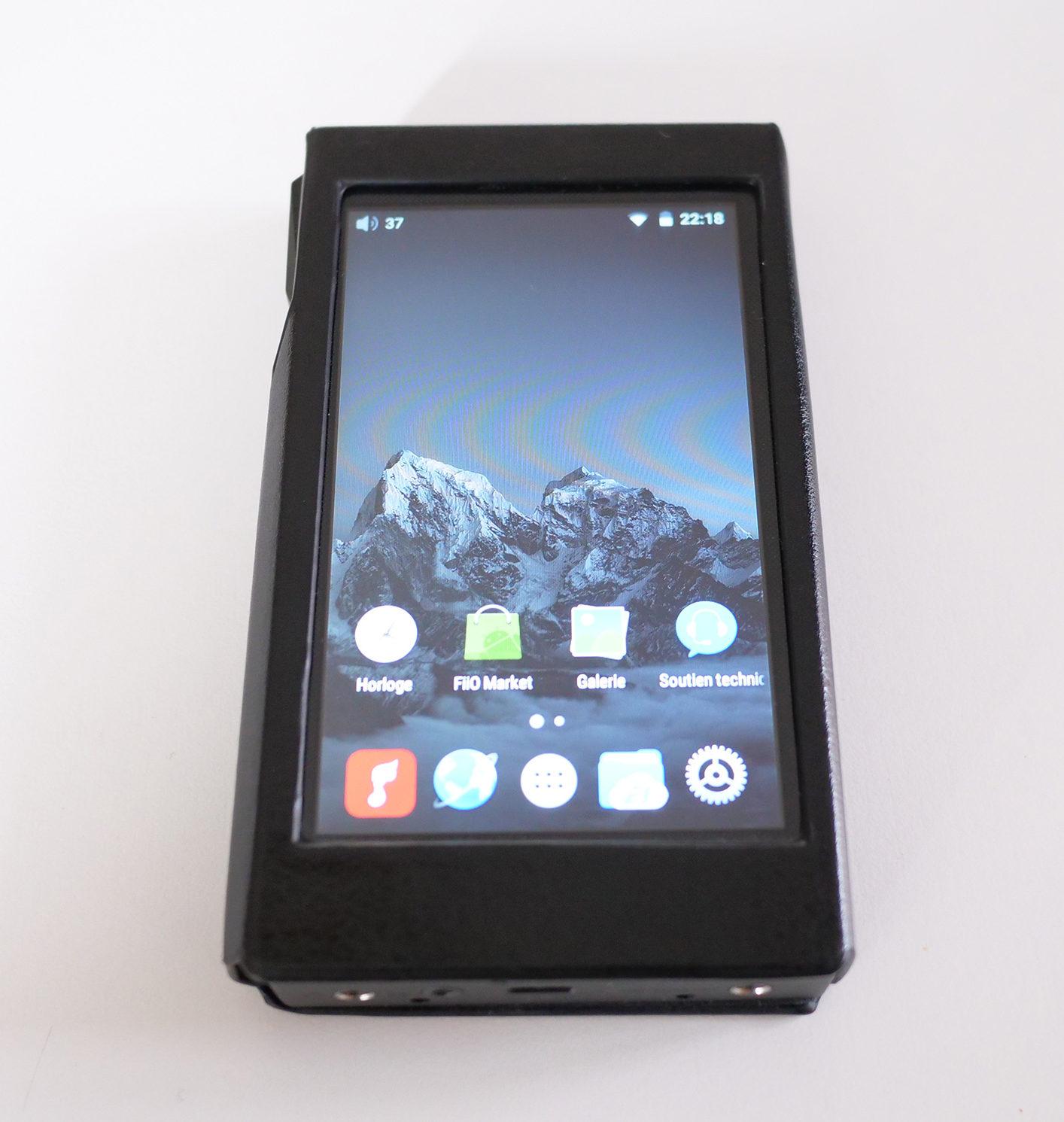 L'écran d'accueil typique d'Android propose les trois applications FiiO déjà installées.