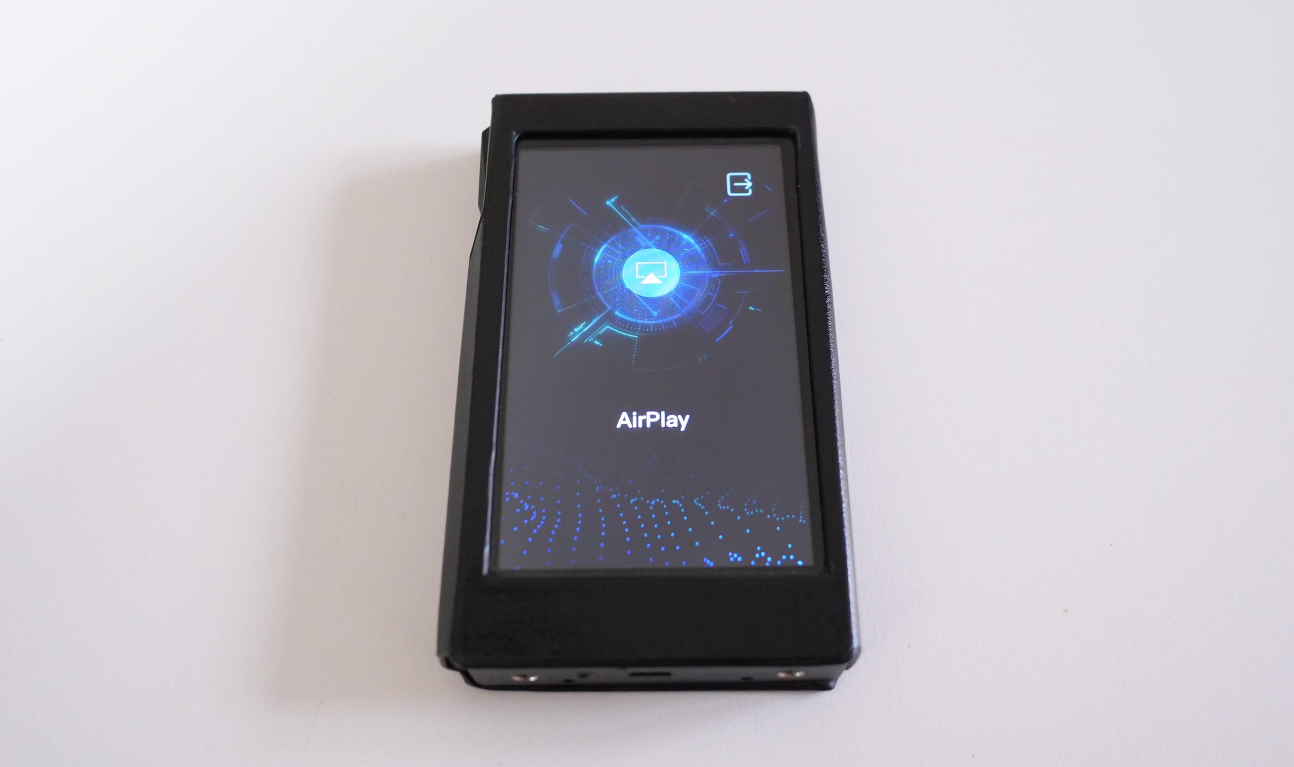 En mode récepteur AirPlay, le baladeur est bloqué sur cet écran, aucune autre action n'est possible.