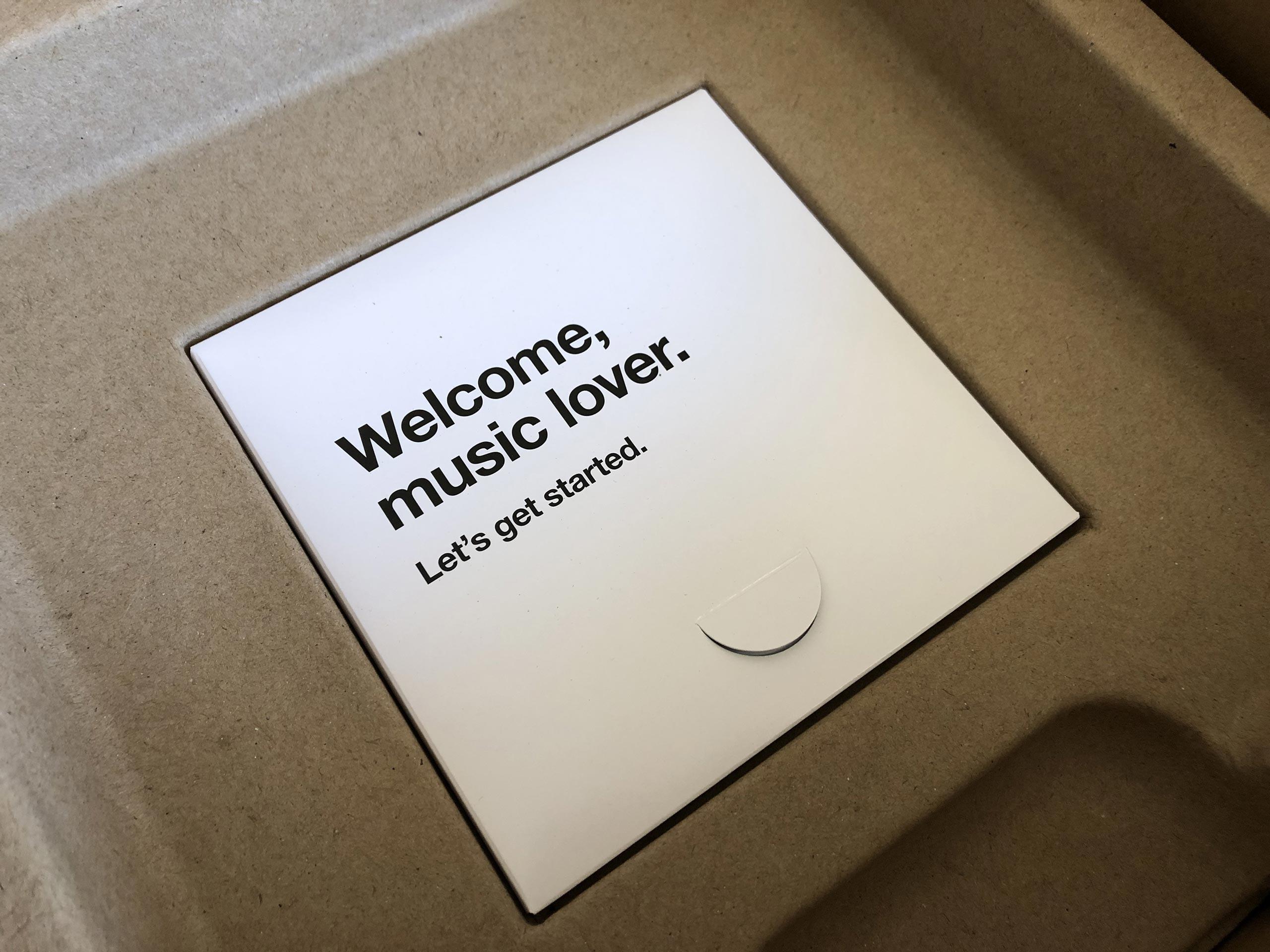 Le livret de démarrage inclut dans chaque coffret Sonos