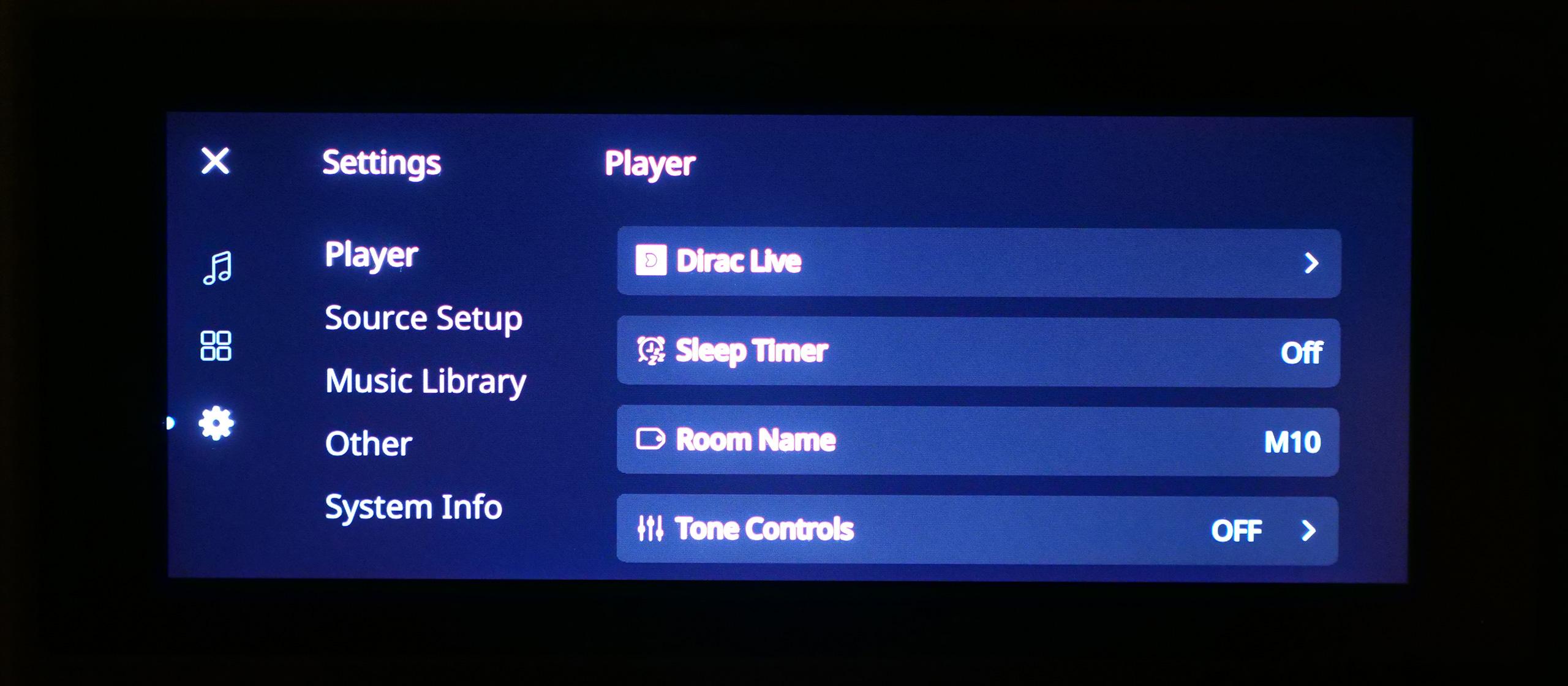 Tous les paramètres du M10 sont accessibles depuis l'écran tactile.