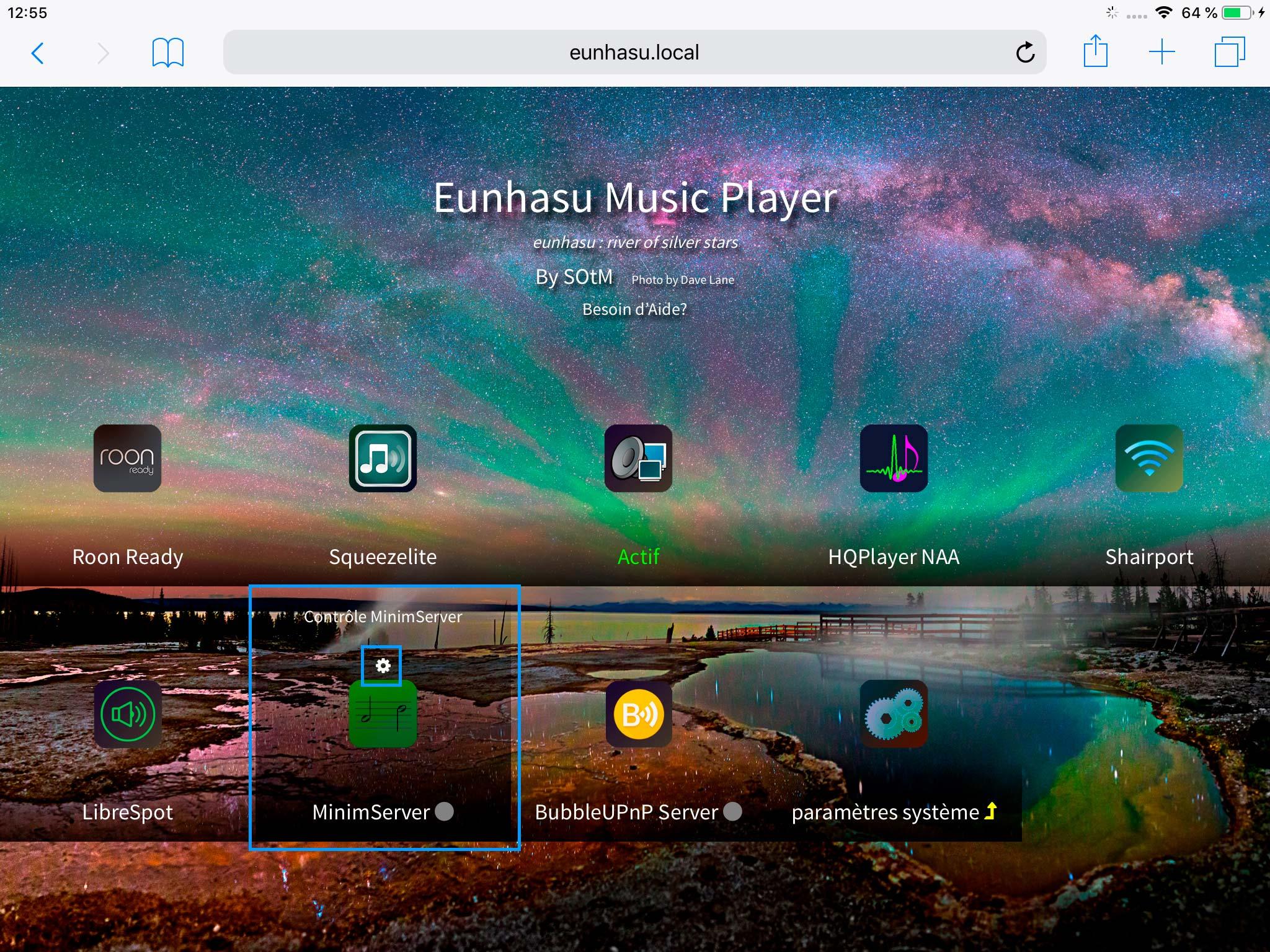 MinimServer: le serveur UPnP intégré au lecteur SOtM sMS-200