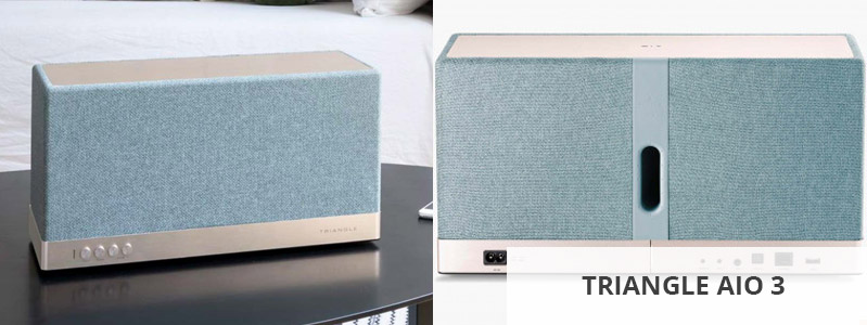 Triangle AIO 3 : Enceinte sans fil connectée avec lecteur réseau musical HD et amplificateur 2 x 45 Watts