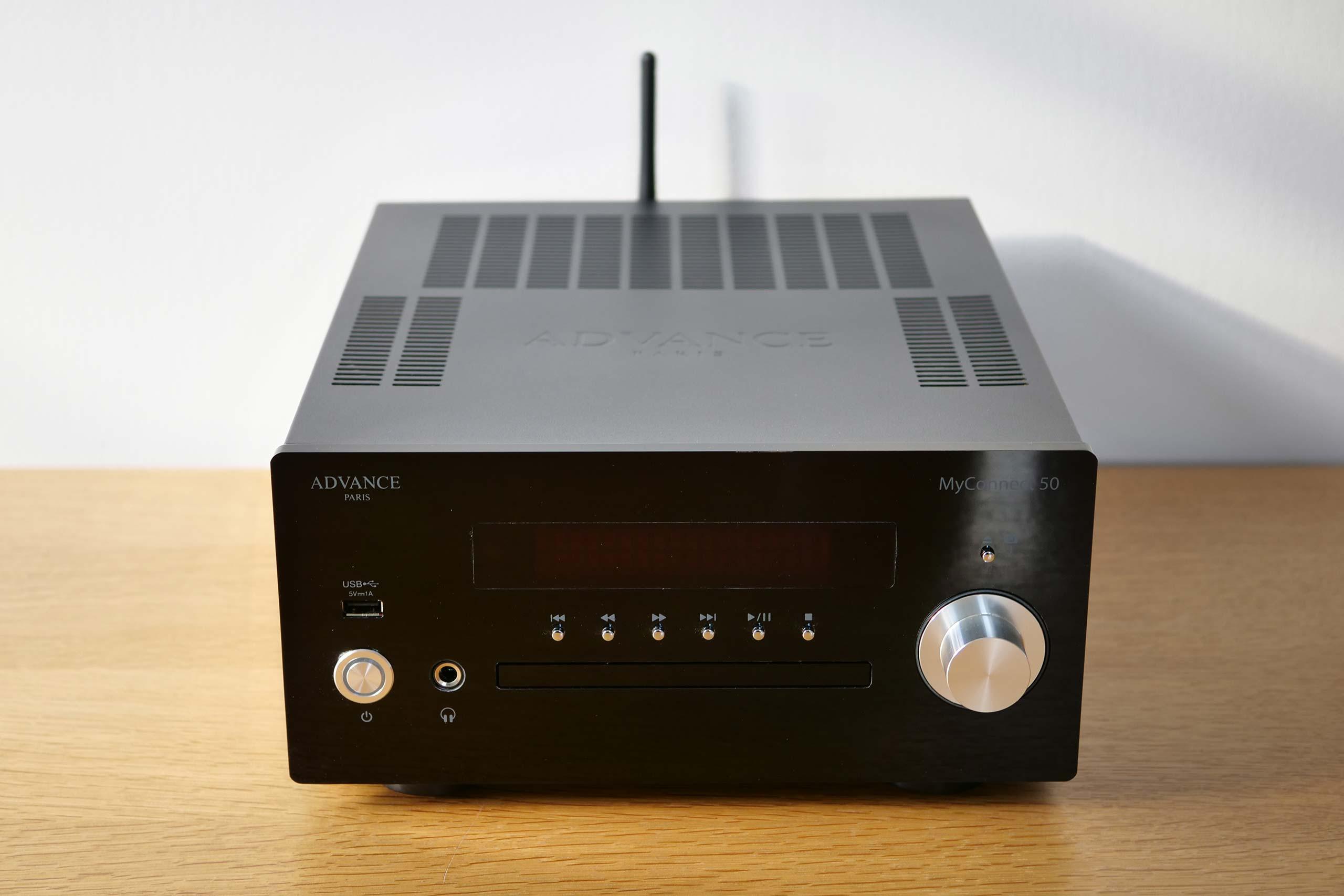 Test de l'Advance MyConnect 50 : un amplificateur WiFi, Bluetooth et CD à la rythmique entraînante