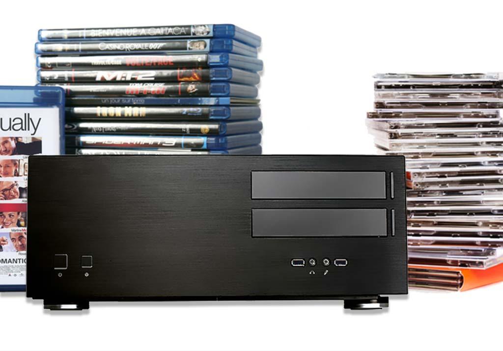 Avoir du temps à la maison, l'occasion de classer tous les fichiers numériques et dématérialiser CD, DVD et Blu-ray