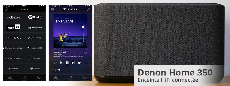 Test de l'enceinte connectée et sans fil Denon Home 350 : WiFi, AirPlay 2, Bluetooth, HEOS et multiroom