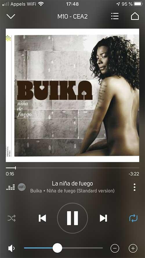 Écoute de Deezer en qualité CD par l'application BluOS du NAD M10