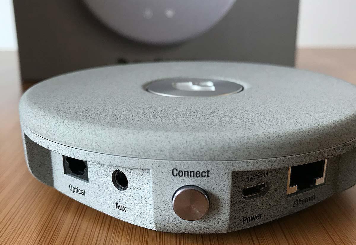 Les connectiques audio et réseau du lecteur Audio Pro Link 1