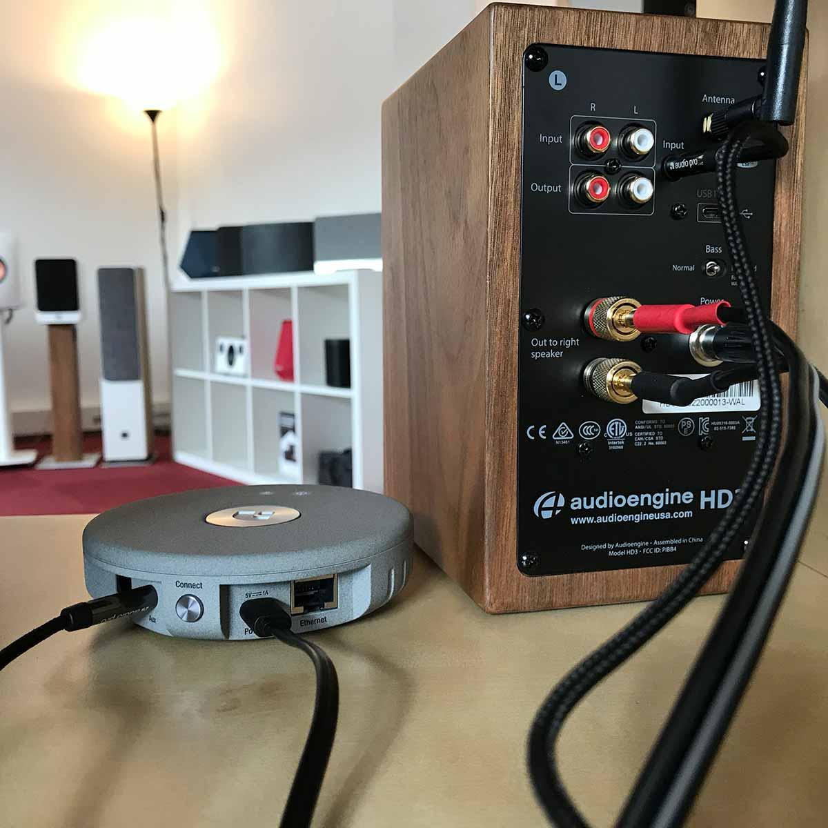 Brancher le lecteur réseau sur les enceintes Audioengine HD3