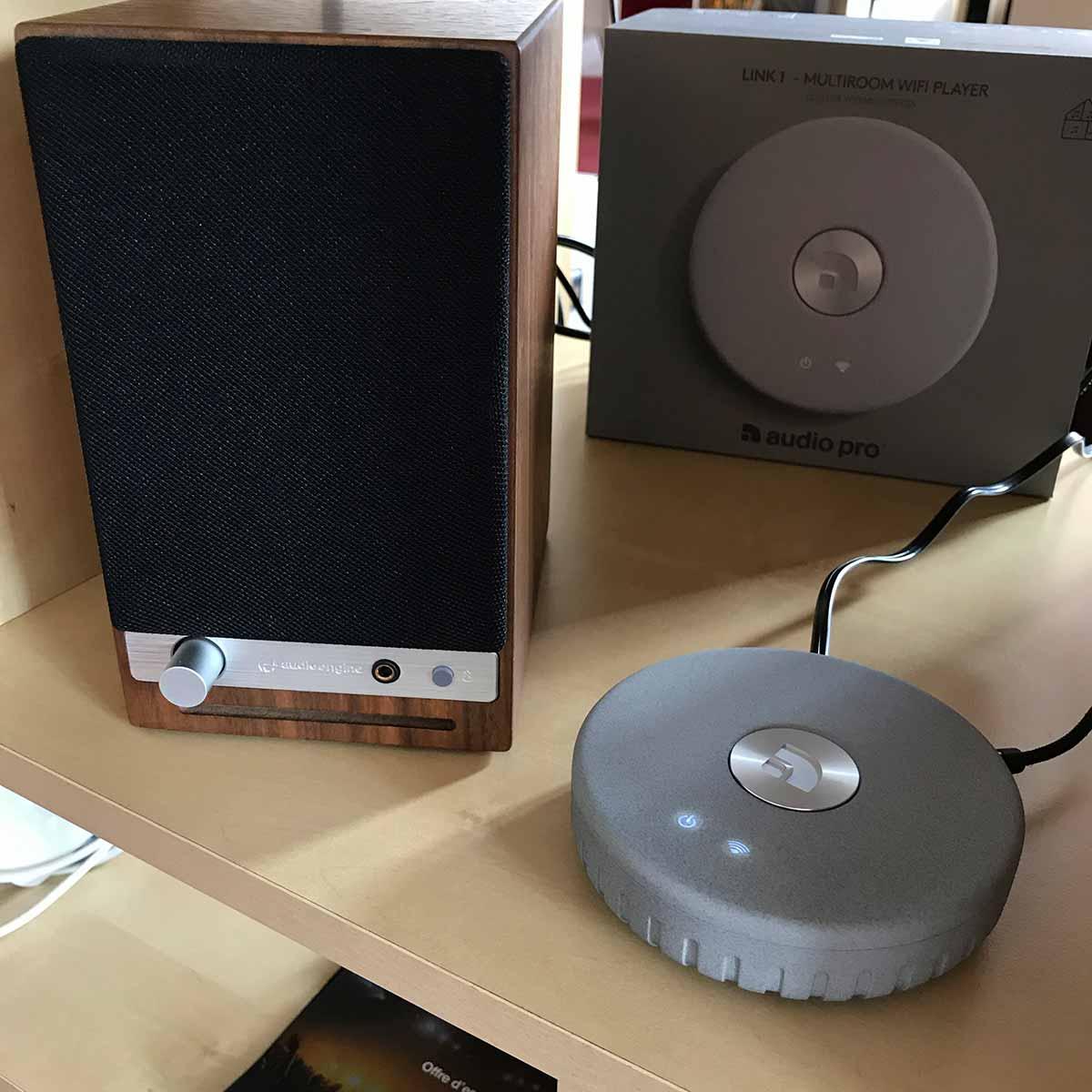 Les enceintes Audioengine HD3 jouent la musique en WiFi par UPnP / DLNA ou AirPlay