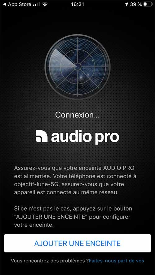 Ajout d'un lecteur réseau Audio Pro Link 1 sur le réseau de la maison