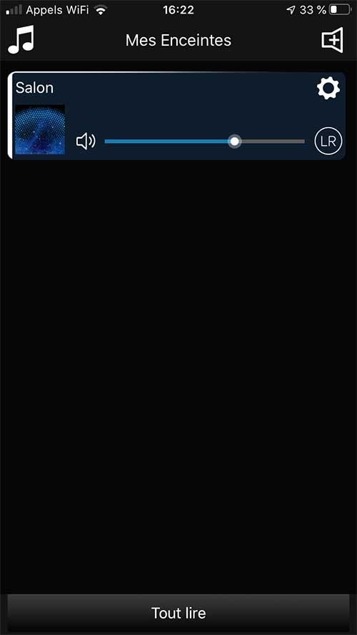 Le lecteur Audio Pro Link 1 est configuré et prêt à jouer la musique sur la chaine HiFi