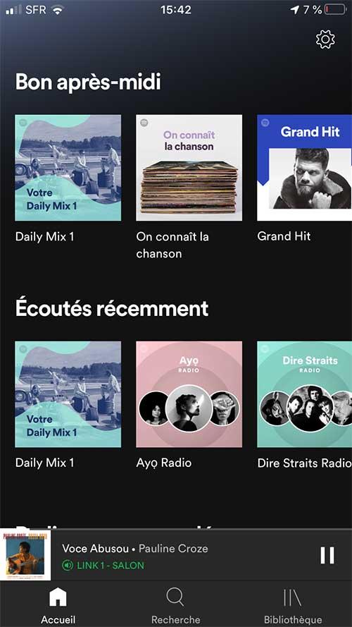 Votre ancienne chaine HiFi diffuse tout le contenu de votre abonnement Spotify