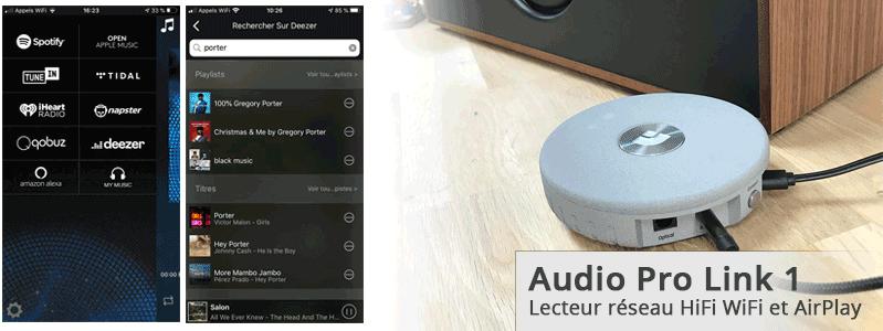Test du récepteur AirPlay et lecteur réseau WiFi pour chaine HiFi. Écoutez Deezer, Qobuz, Tidal et Spotify sur la chaine HiFi