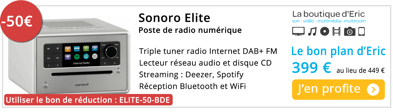 Poste de radio avec lecteur CD - Sonoro Elite - Meilleur prix sur La boutique d'Eric