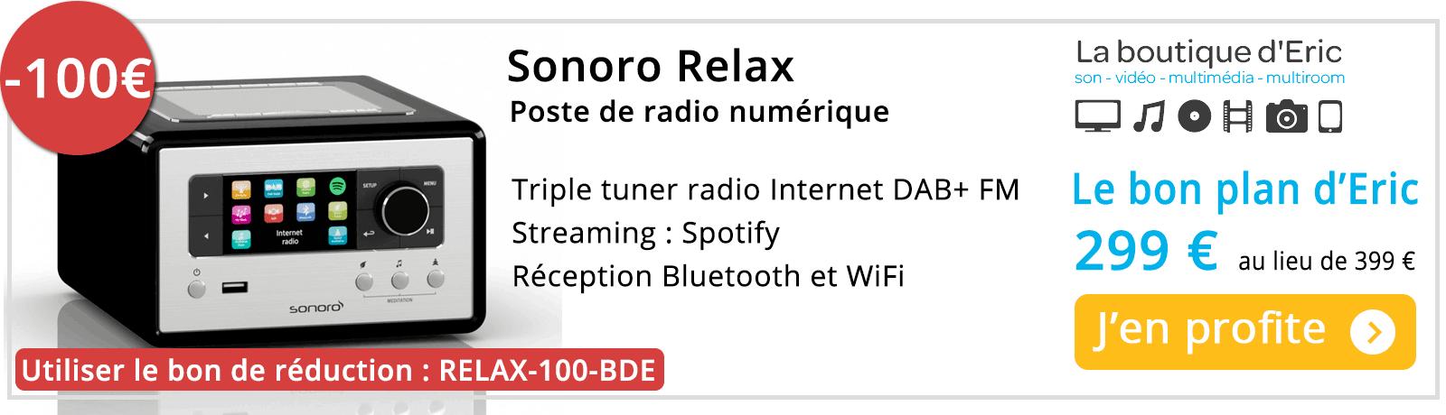 Sonoro Relax : poste de radio connecté Internet et WiFi