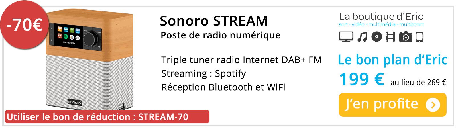 Promotion sur poste de radio Internet Sonoro Stream au meilleur prix