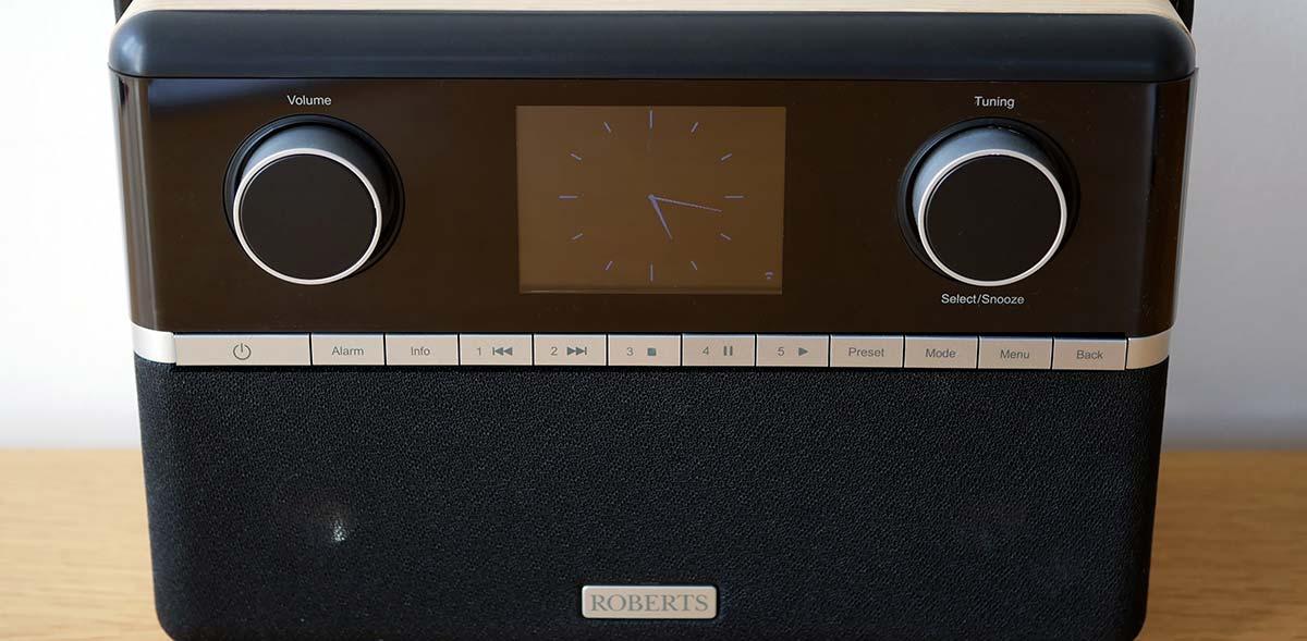 Poste de radio numerique Internet, FM et DAB avec deux haut-parleurs stéréo