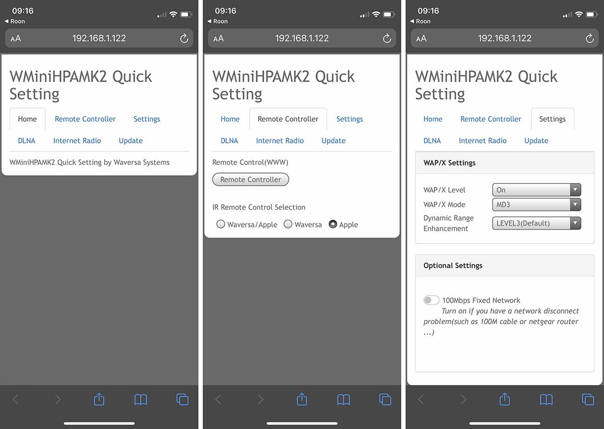 Les menus principaux de l'interface web accessibles depuis un smartphone, une tablette ou un PC/Mac.