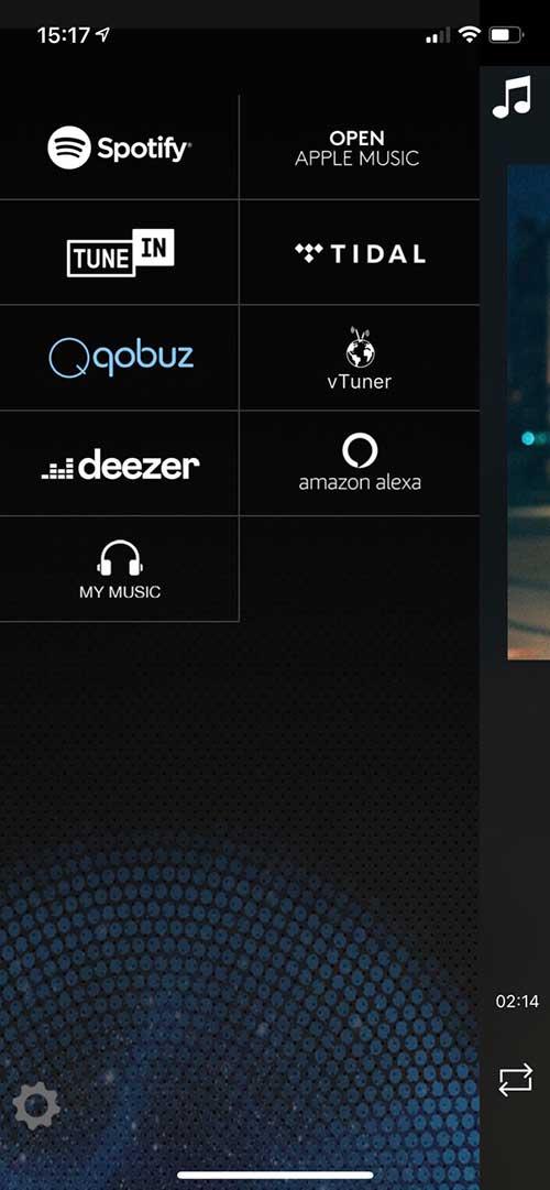 L'application Audio Pro regroupe toutes les sources musicales