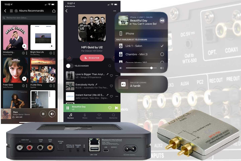 Quel choix entre un récepteur Bluetooth ou un lecteur réseau audio pour Deezer, Qobuz, Spotify, Tidal sur une chaine HiFi