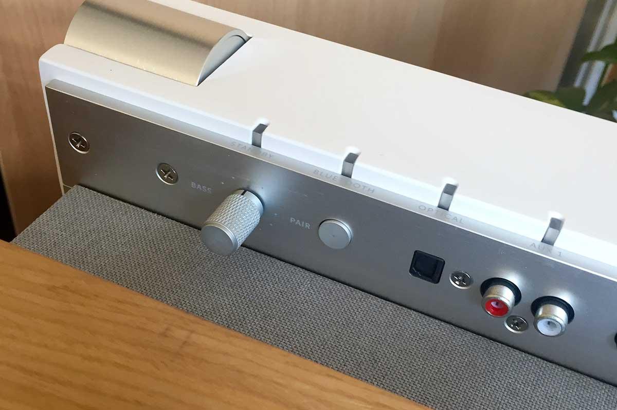 Connectiques audio analogiques et numérique de l'enceinte La boite concept PR/01