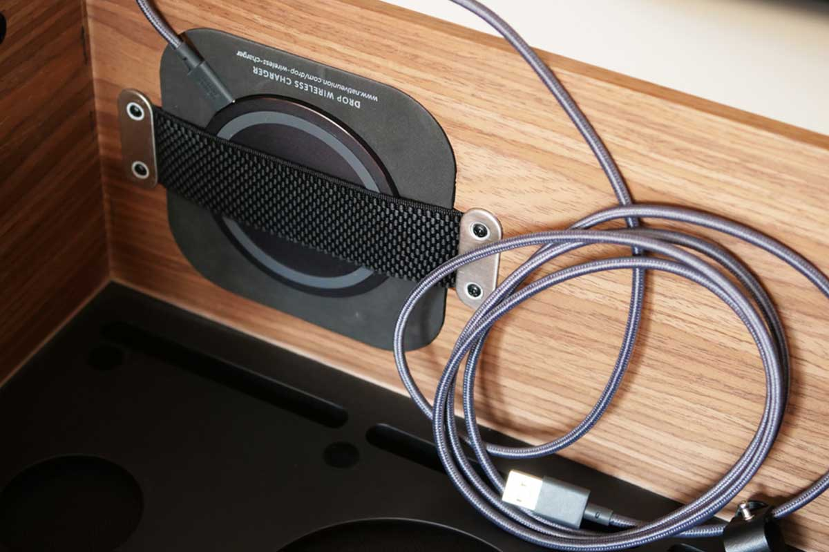 Chargeur sans fil intégré sur La Boite concept
