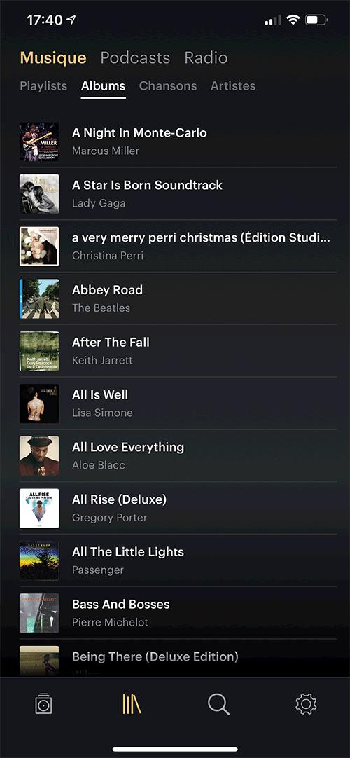 Mes albums favoris sur mon compte Qobuz