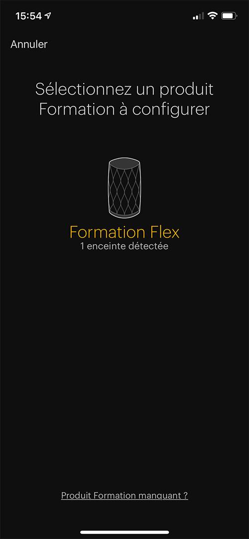 Mon enceinte Bowers & Wilkins Formation Flex est en cours de configuration.