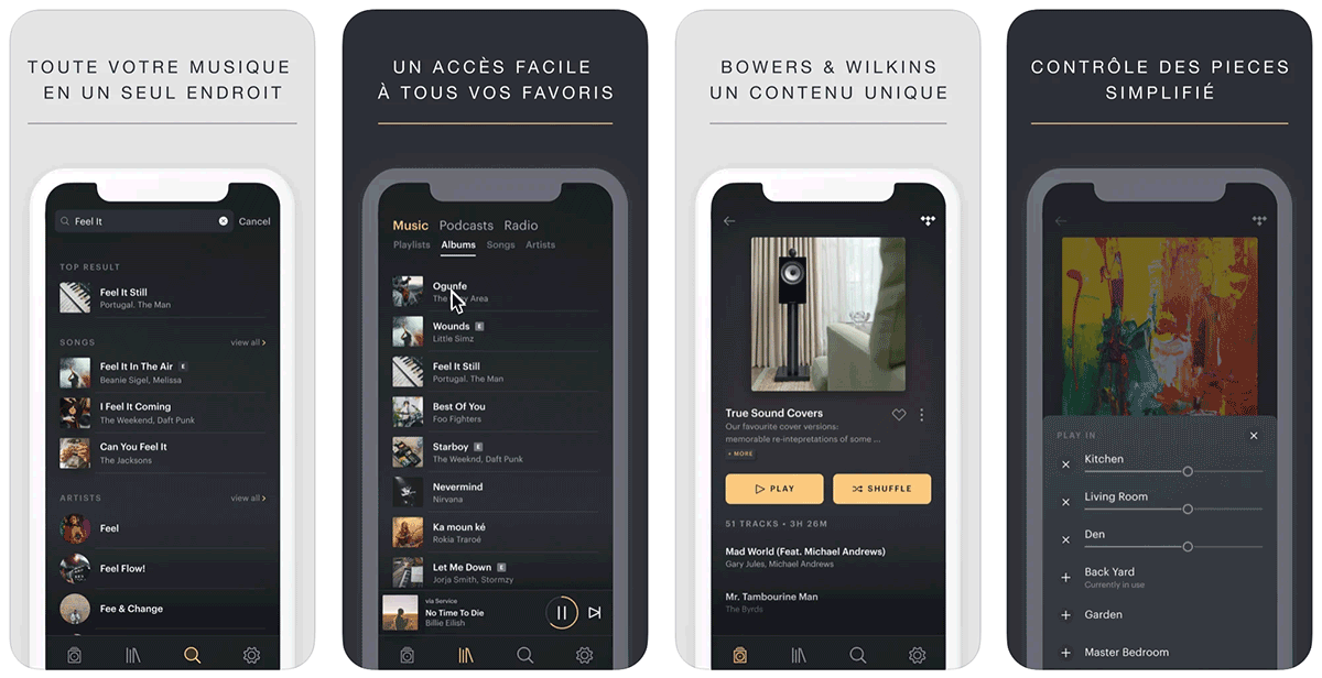 Application B&B Music disponible dans l'App store iOS et Google Play Android
