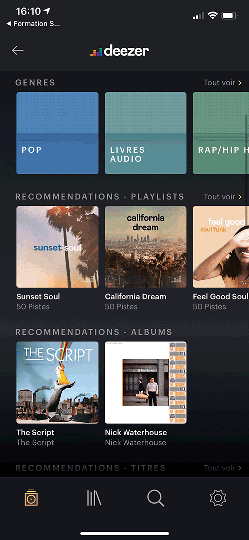 """La totalité de la plateforme Deezer est accessible depuis l'application """"Music"""" pour l'écoute sur une ou plusieurs enceintes B&W Formation."""