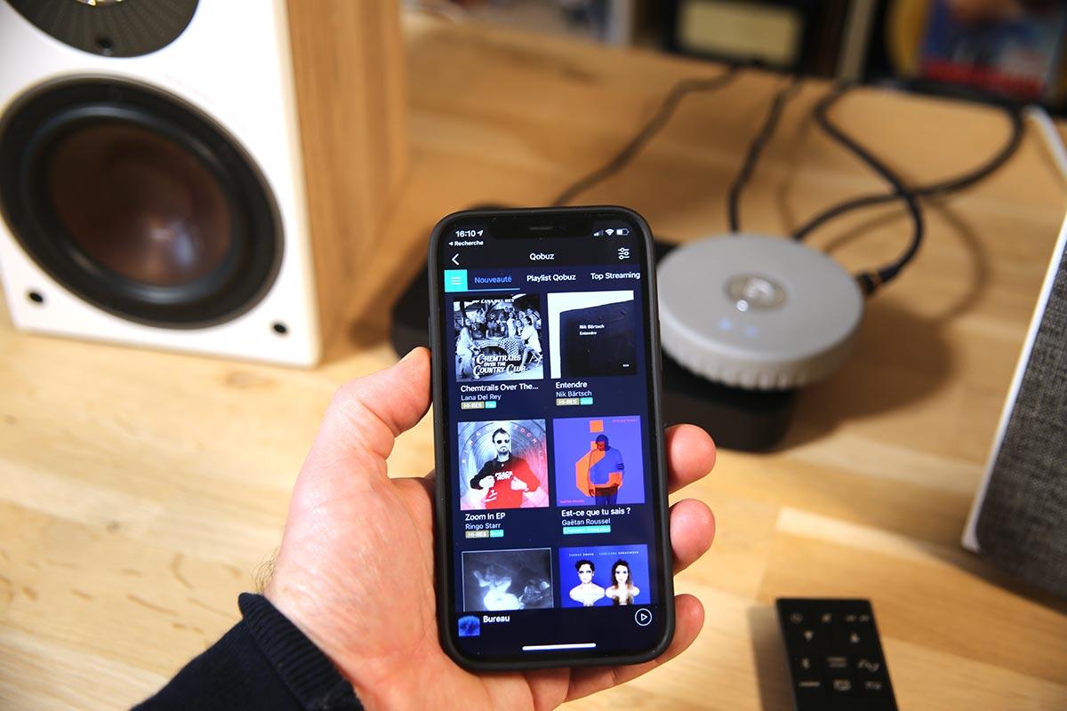 L'application Audio Pro pour l'écoute de Qobuz, Deezer, Tidal ou des radios Internet sur les enceintes actives Dali Oberon 1C