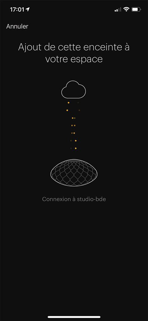 Automatiquement l'application configure votre enceinte sur votre réseau WiFi.