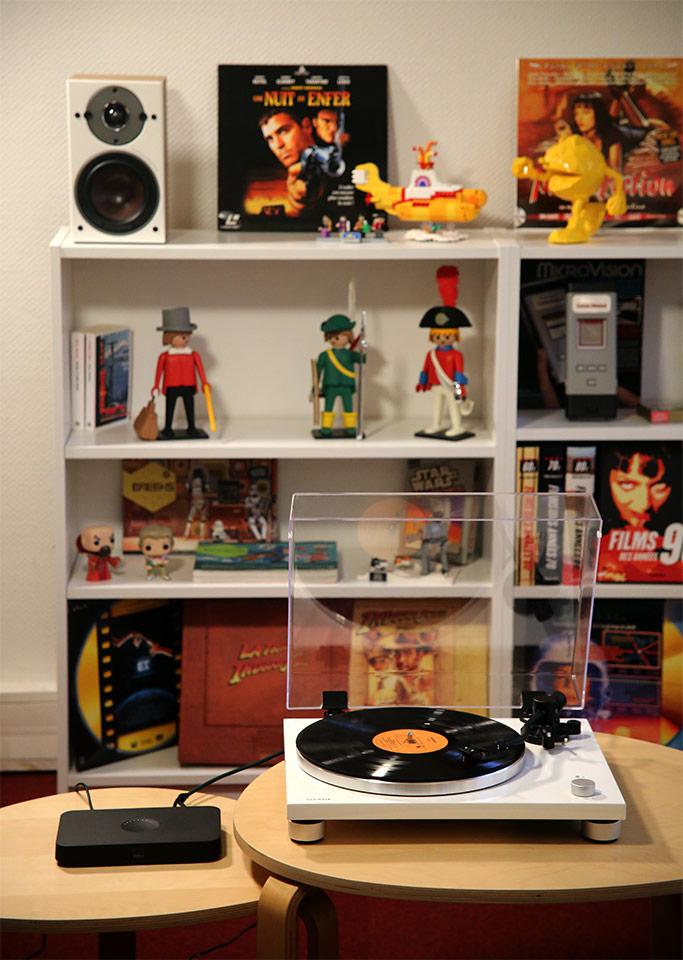Connexion sans fil WiFi pour une platine disque vinyle