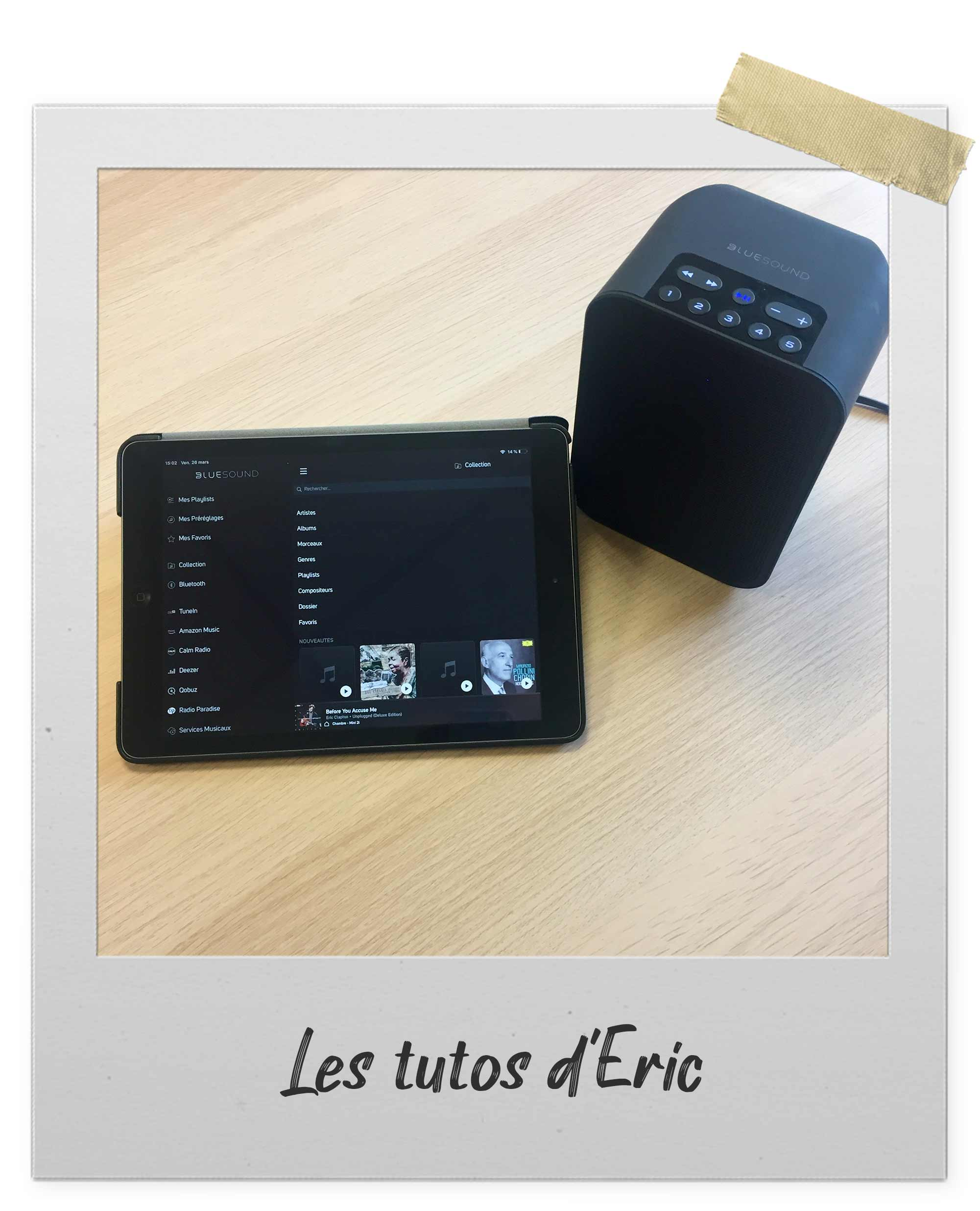 Naviguer simplement dans sa biblitohèque musicale avec l'application BluOS