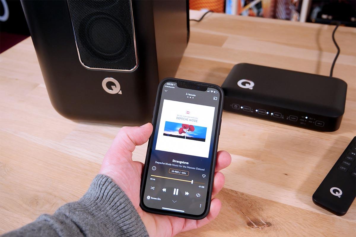 Le hub Q Acoustics intègre un lecteur réseau filaire et WiFi complet : UPnP/DLNA, AirPlay 2, Chromecast et Roon.
