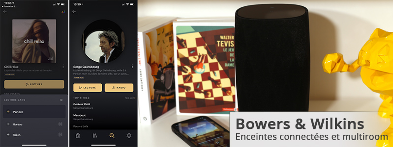 test de l'application Music pour les enceintes WiFi sans fil Bowers & Wilkins B&W Formation Flex, Formation Wedge, Formation Duo