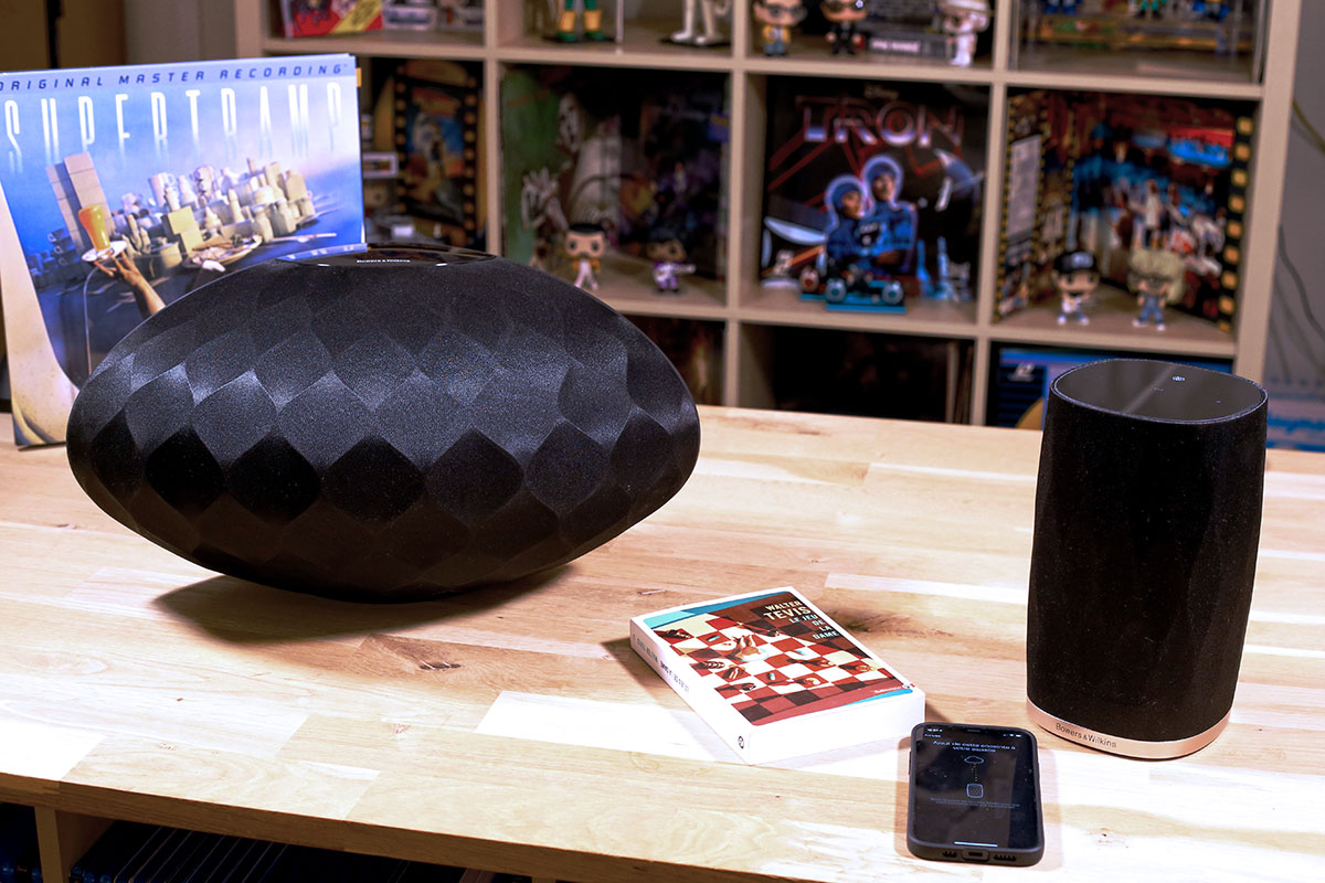 Test de l'application Music avec l'enceinte Bowers & Wilkins Formation Wedge