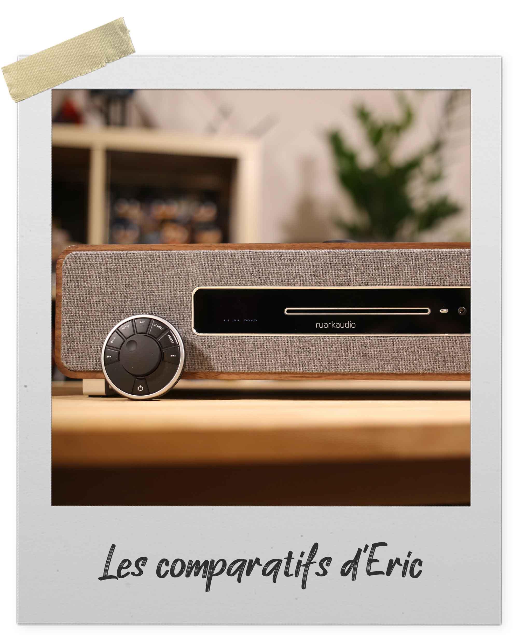 Chaînes HiFi monobloc compactes Ruark Audio avec télécommande de contrôle et lecteur CD intégré