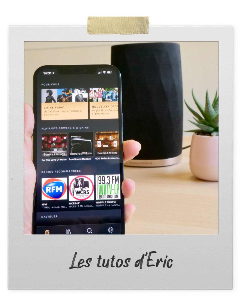 Mise à jour de l'application Bowers & Wilkins Music App pour une meilleure ergonomie
